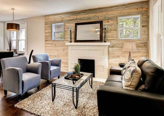 Accent a Wall with Wood