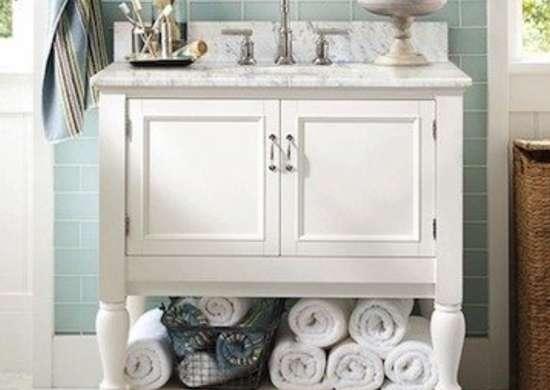 Potterybarn newport single sink console