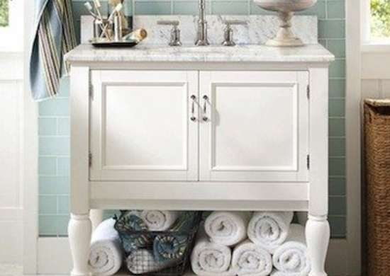Potterybarn newport single sink console