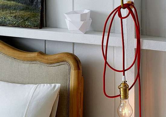 Bedside pendant light