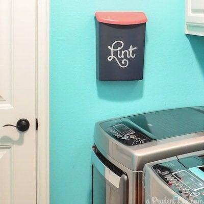 Laundry room lint bin