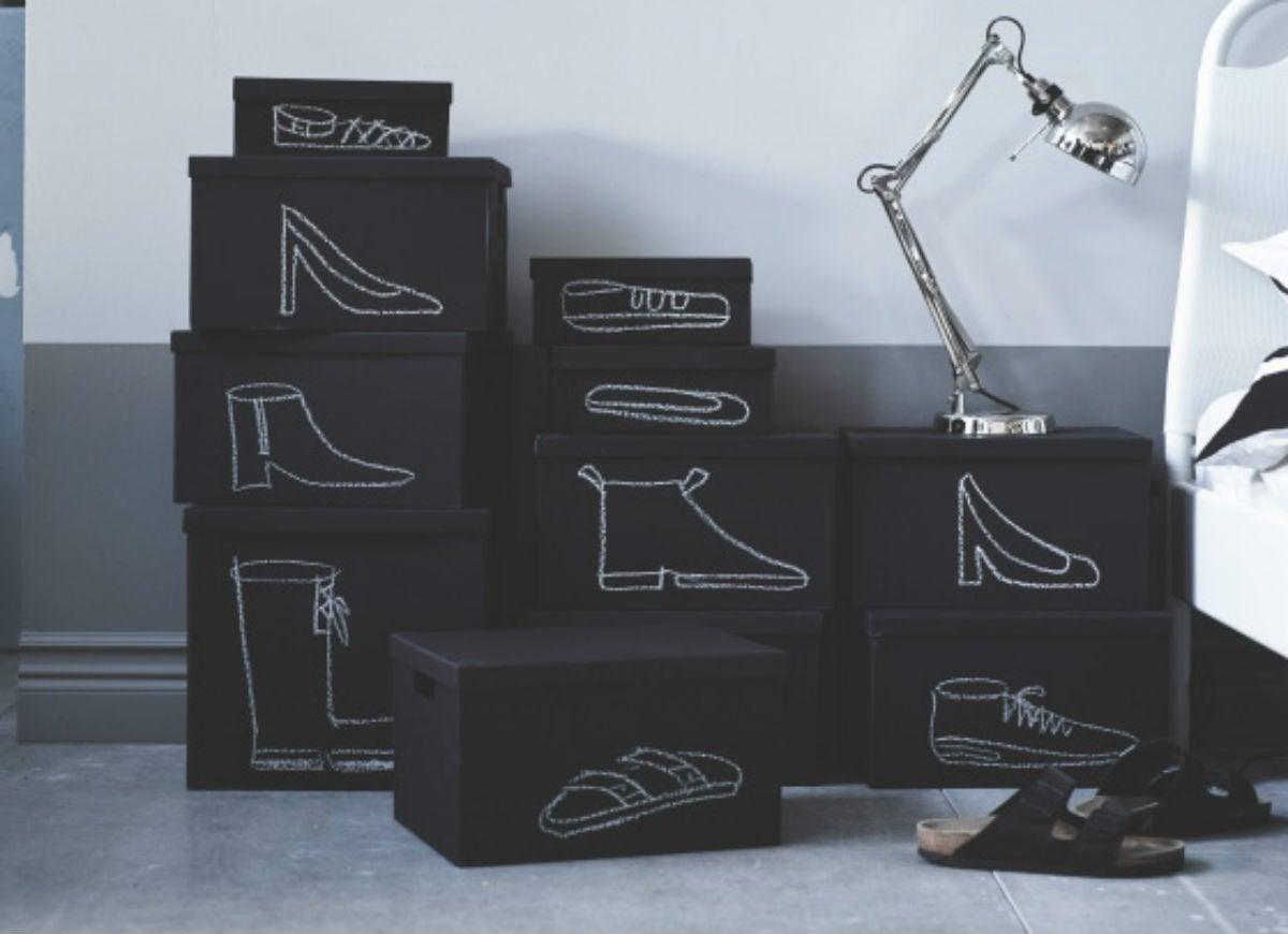 Old shoeboxes   decorative storage