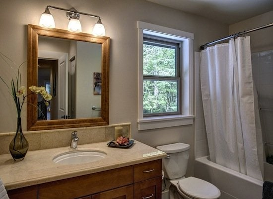Spruce up bathroom