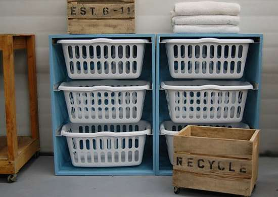 Build Stackable Laundry Basket Storage