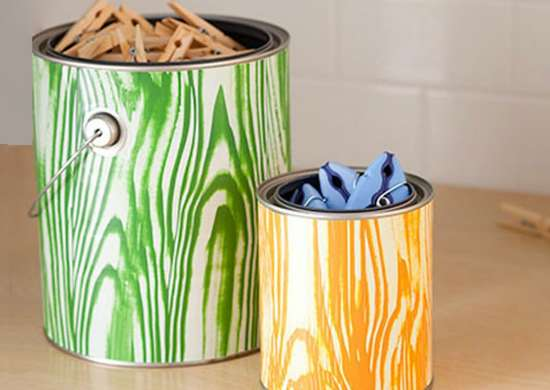 Organize Your Laundry Room with Old Paint Cans