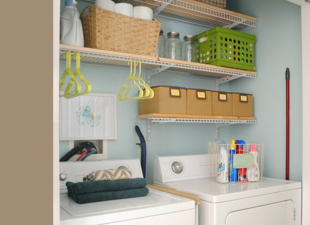 20 instant updates for a laundry room you can love bob vila for Laundry room shelving diy