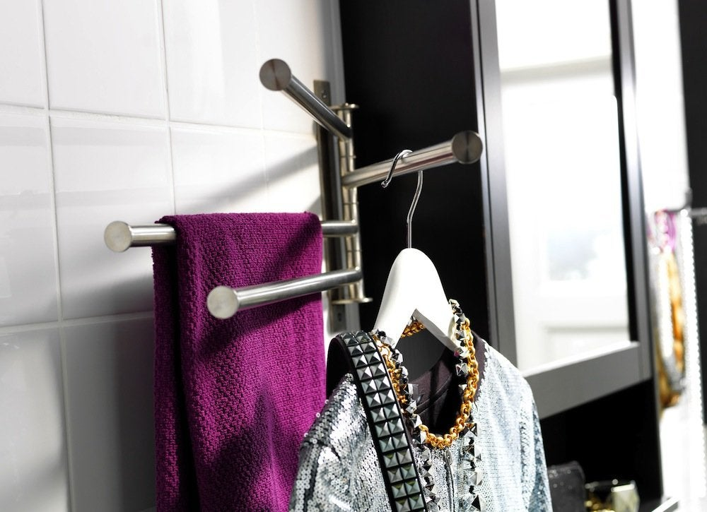 Small bathroom towel rack