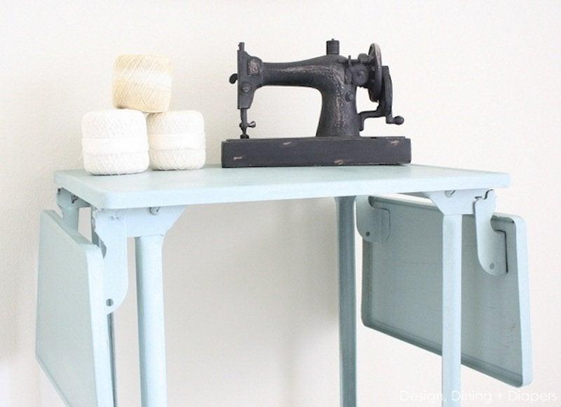 Upcycled typewriter table