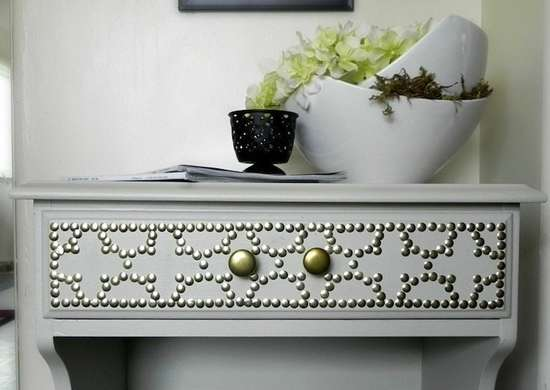 Nailhead table the 15 best cheap furniture makeovers we for Cheapest furniture ever
