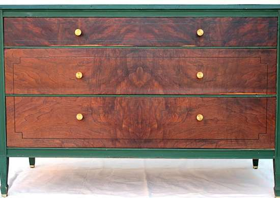 Green and wood dresser