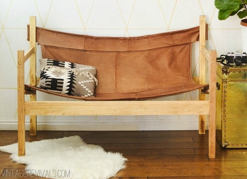Leather hammock chair