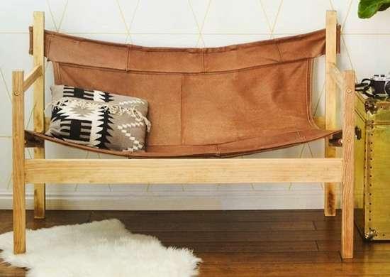 Leather hammock chair