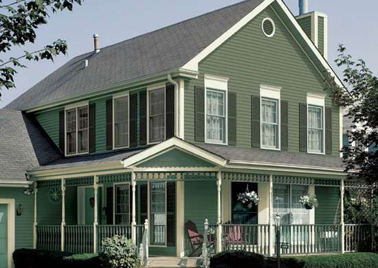 Dark green house exterior house colors 7 shades that - Best exterior color for small house ...