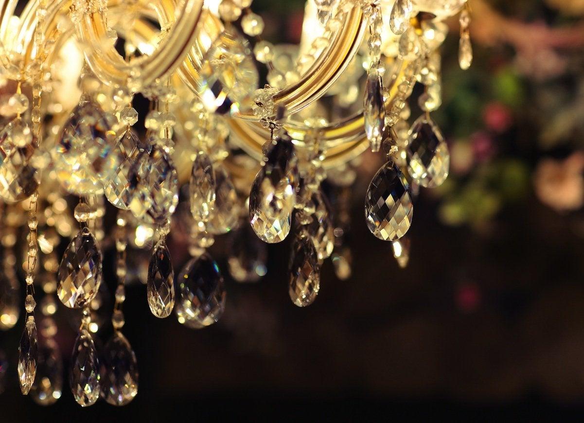 Dust a chandelier
