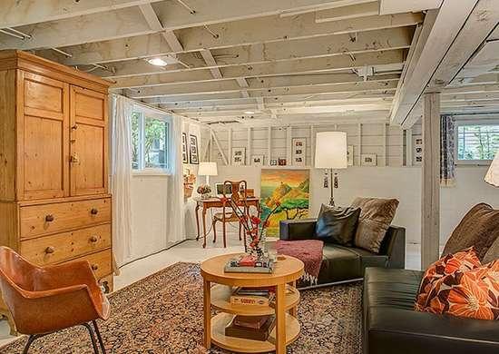 add shelving and storage basement design 10 fast fixes to make it less scary bob vila. Black Bedroom Furniture Sets. Home Design Ideas