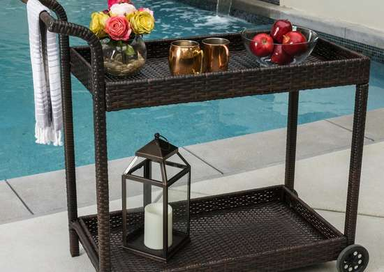 Outdoor bar carts