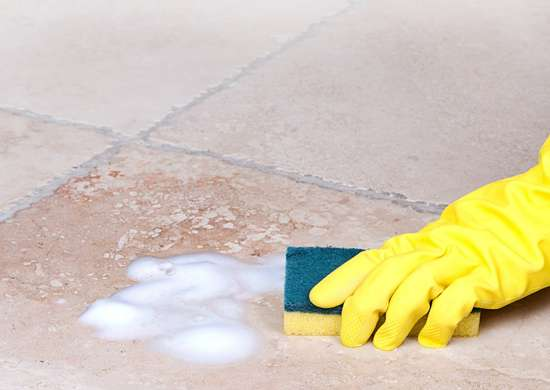 Clean Dirty Grout with White Shoe Polish