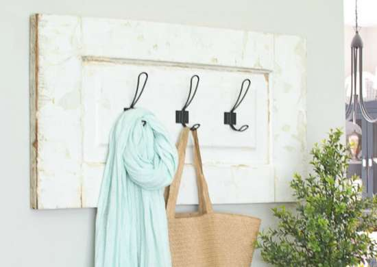 Add Hooks to a Cabinet Door to Make a Coat Rack