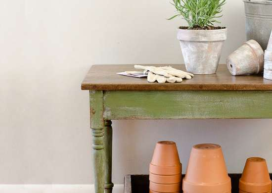 Convert a Coffee Table into a Potting Bench