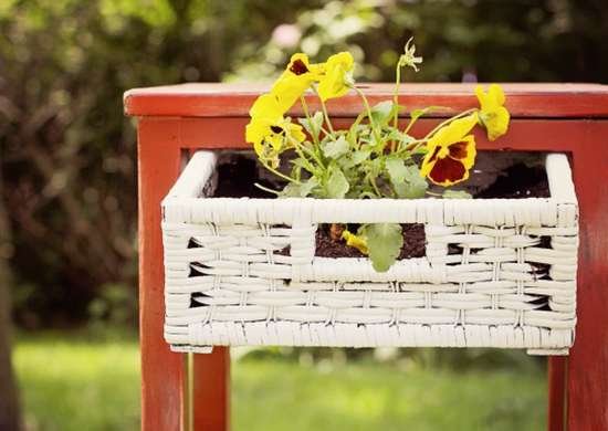 Turn a Side Table into a DIY Planter