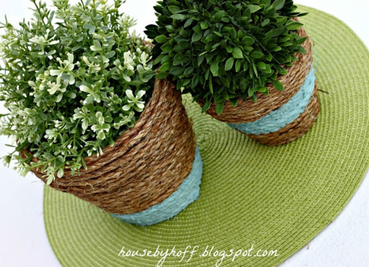 Dollar store  rope pots