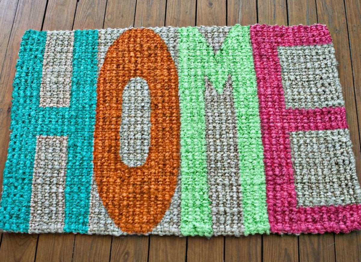 Dollar store   welcome mat
