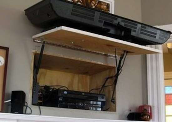 Behind the TV Storage