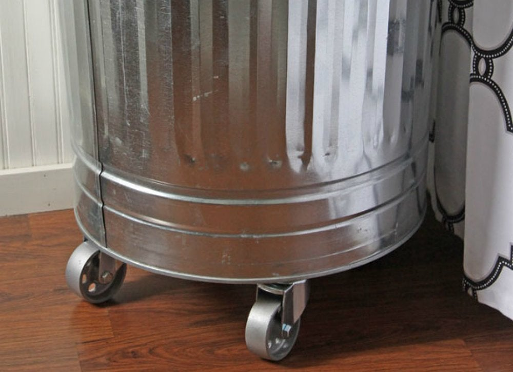 Add casters garbage can