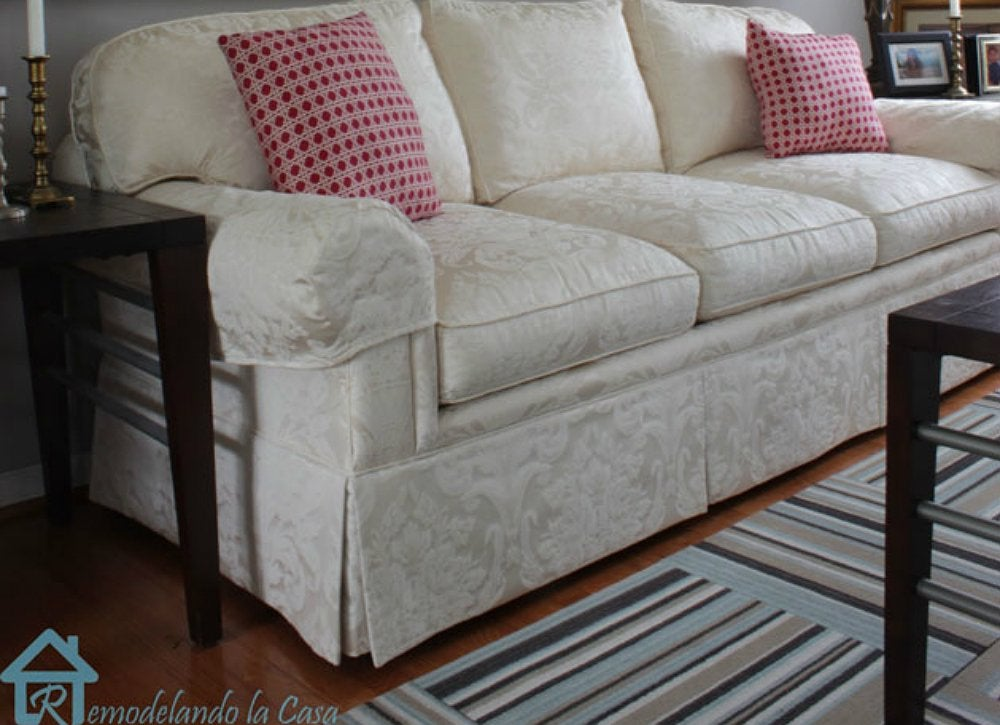 DIY Couch Makeovers 10 Creative Solutions for a Tired  : white sofa from www.bobvila.com size 1000 x 725 jpeg 107kB