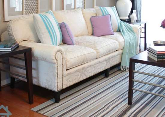 Remove The Skirt To Update An Old Sofa