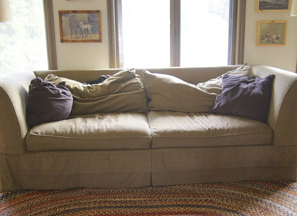 Saggy Brown Sofa