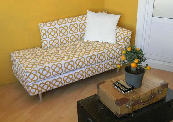 Add Pattern To An Old Futon Diy Couch Makeovers 10
