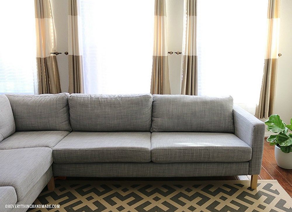 Gray ikea couch diy couch makeovers 10 creative for Ikea gray sofa