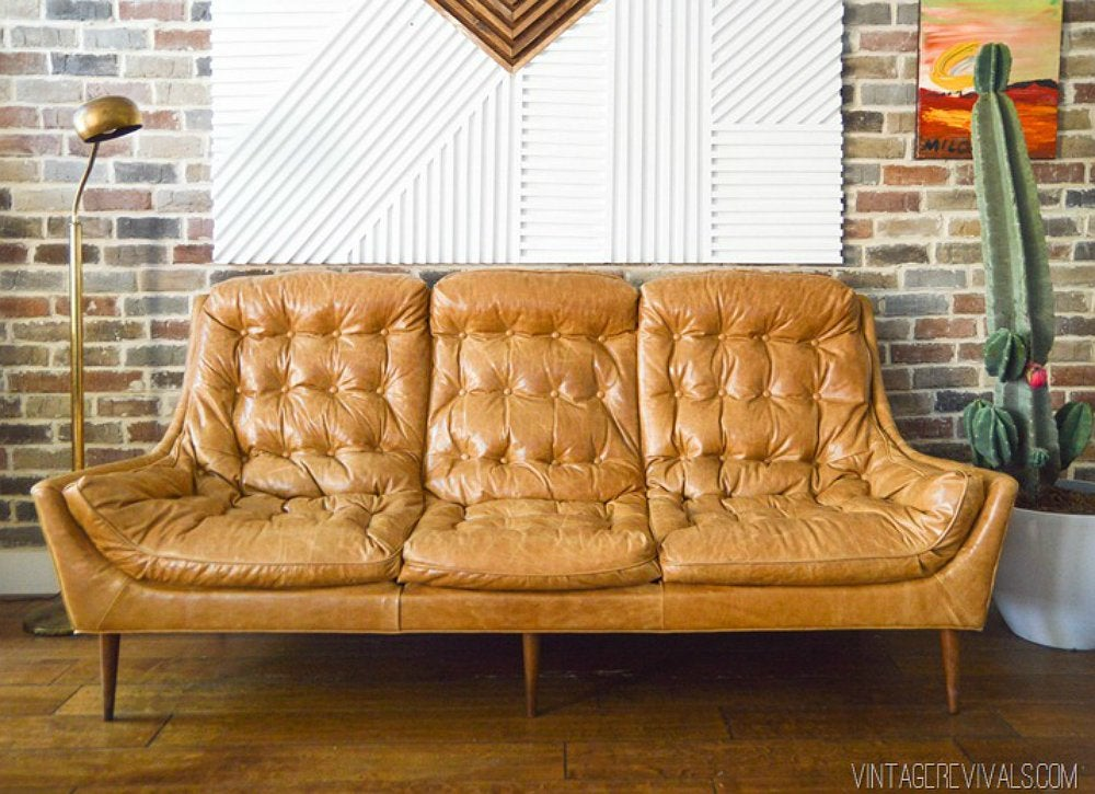 Revive A Vintage Sofa With New Upholstery And Legs Diy