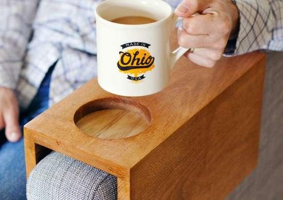 Cup holder couch sleeve