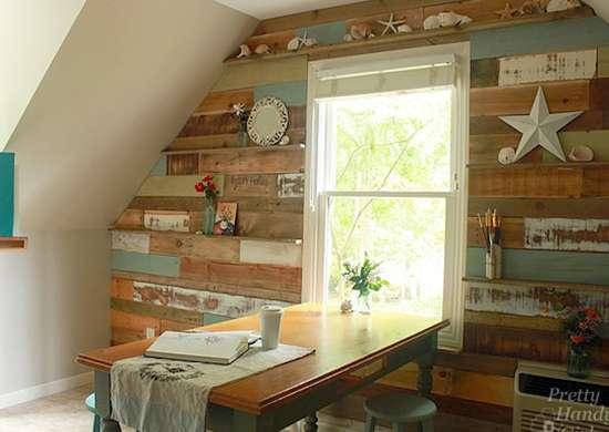 Scrap-wood-accent-wall