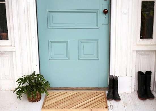 Wood-slat-welcome-mat