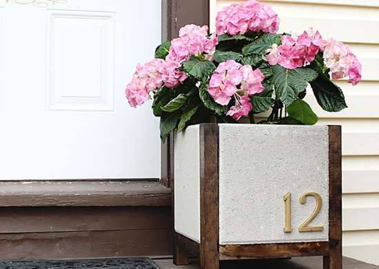 DIY Wood and Paver Address Marker