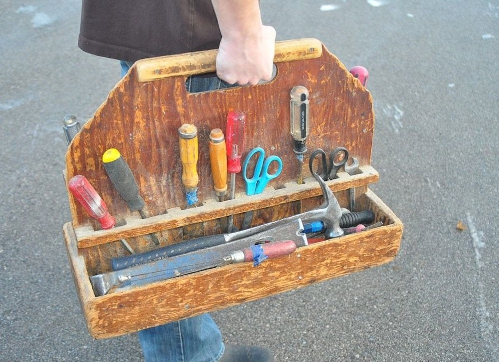 Diy wood tool box