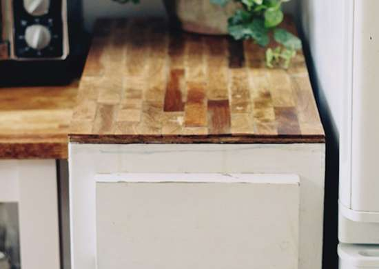 DIY Paint Stirrer Kitchen Counters