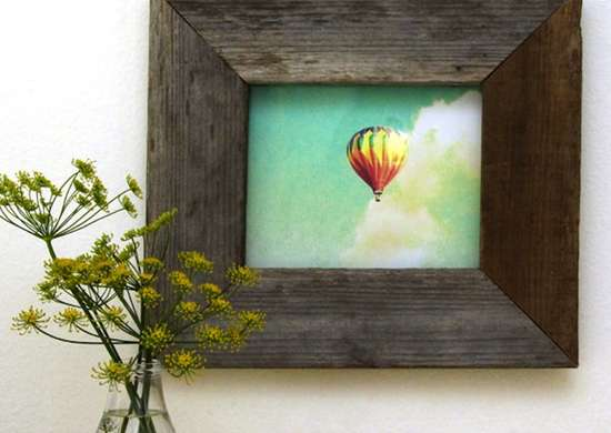 DIY Reclaimed Wood Picture Frame
