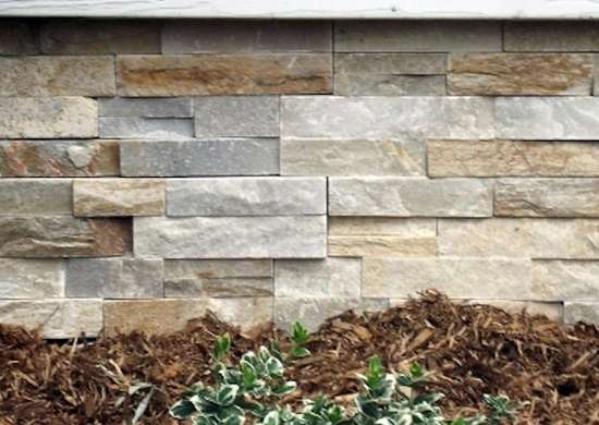 Stone Veneer Foundation