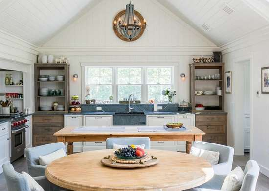 One-Wall Kitchen with Dining Room