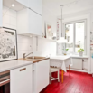 Kitchen with Painted Floors and Good Lighting