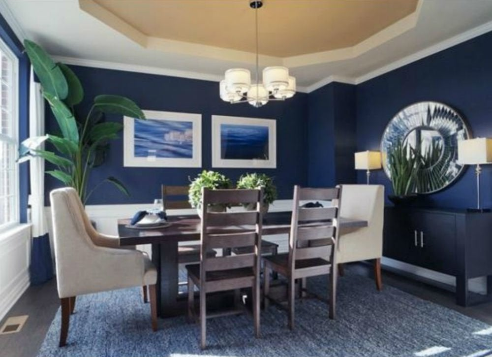 Blue dining room 9 paint color rules worth breaking bob vila - Dining small spaces paint ...