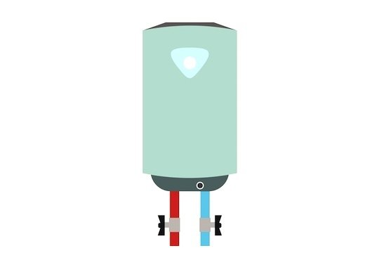 Tankless water heater illustration