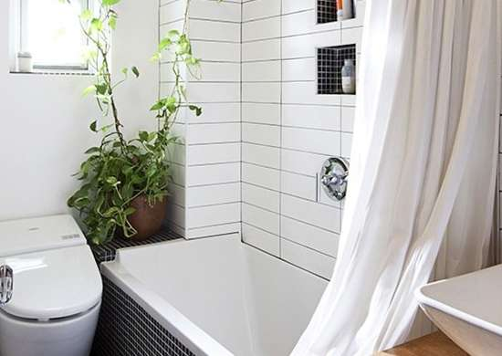 White Subway Tile Shower Surround
