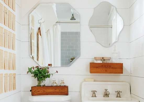 Double Mirror in Bathrom