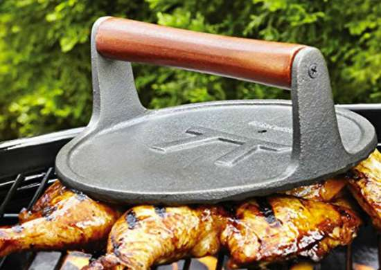 Outset Q112 Round-Shaped Cast-Iron Grill Press