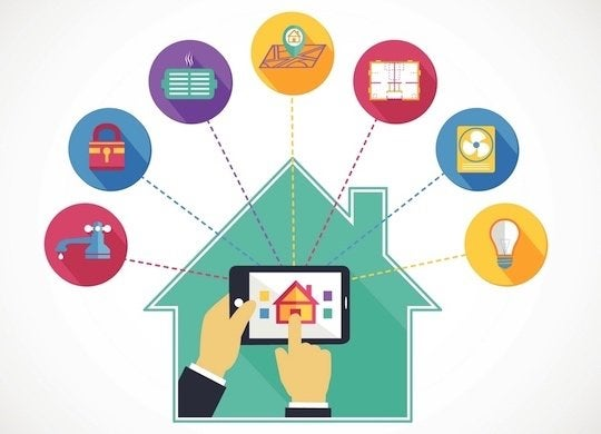 Smart home automation illustration